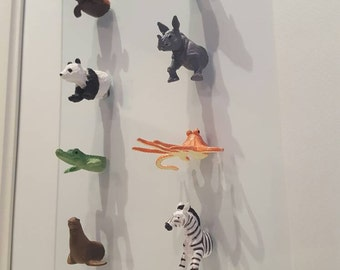 Kids room 3D art. 8 animals