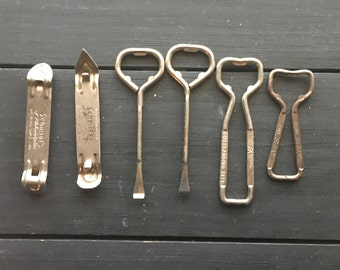 Lot Of Vintage bottle and paint can openers