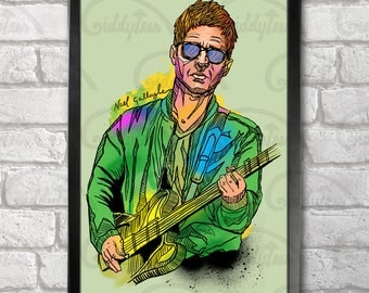 Noel Gallagher Poster Print A3+ 13 x 19 in - 33 x 48 cm  Buy 2 get 1 FREE