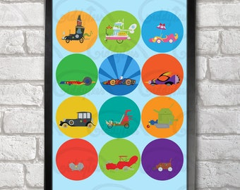 The Great Race Poster Print A3+ 13 x 19 in - 33 x 48 cm Wacky Races Buy 2 get 1 FREE