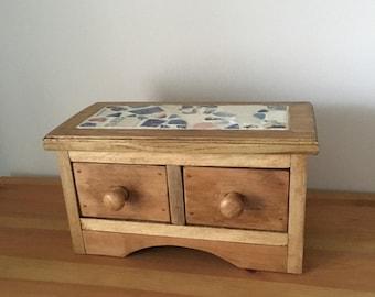 Trinket box, jewellery box, small chest of drawers