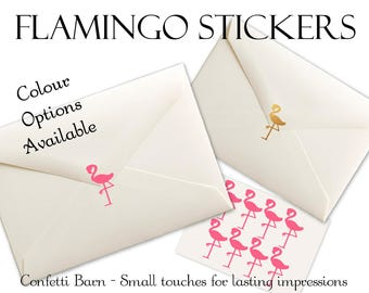 Flamingo Stickers - Removable Vinyl - Party Invitations - Envelope Sealing Stickers - Planner Stickers #36
