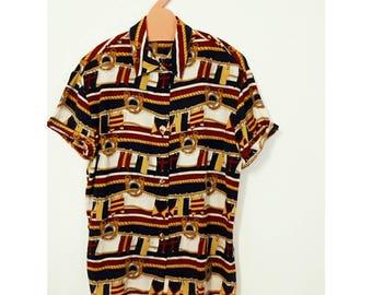 Vintage silk shirt.