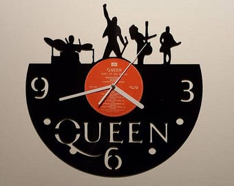Vinyl Clock, 80s rock band, Christmas gift, Wall clock, vinyl record clock