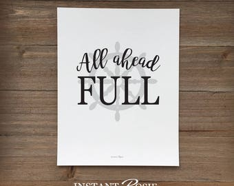 All Ahead Full - Instant download