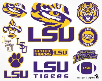 LSU svg, LSU Tigers svg, LSU clipart, Fighting Tigers Louisiana svg, digital – svg, eps, png, dxf, pdf. Stencil Cut Print Mug Shirt Decal.