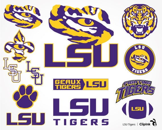 Lsu Logo Clip Art: LSU Svg LSU Tigers Svg LSU Clipart Fighting Tigers