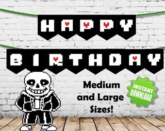 Undertale Happy Birthday Banners