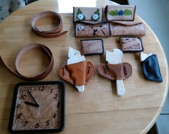 Hand tooled leather projects