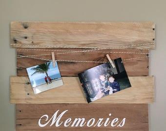 Pallet Wood Photo Wall Decor