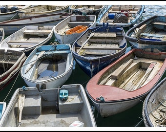 Small fishing boats in Cornwall