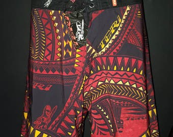 TRIBAL RED BOARDSHORT