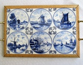 Blue Delft, serving tray, hot plate, cheeseboard, tile trivet, decorative tile, decorative tray, blue delft, holland, tile tray, custom tile