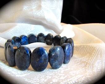 Lapis Bracelet & Earrings