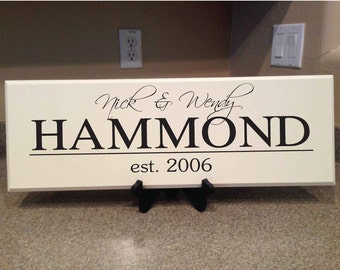 Personalized Plaques - Family Wood Plaque - Custom Name - Family Sign - Home Decor - House Warming Gift - Wedding Gift - Annivesary Gift