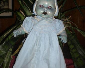 OOAK Horror  Zombie Living / Walking Dead baby doll