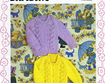"""Vintage Jumper and Cardigan Knitting Pattern to fit 18 - 22"""""""