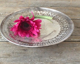 Vintage Birks Sterling Silver Pedestal Dish / Centrepiece / Footed Tray / Platter /317g