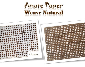 Handcrafted AMATE PAPER – WEAVE Pattern – 24in x 16in - - - Papel Amate – Modelo: Calado – 60cm x 40cm