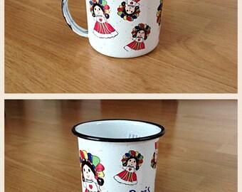 10oz. personalized enamel mug / personalized mug / personalized gift / peltre personalizado / pocito de peltre