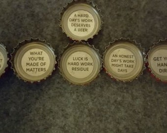 Upcycled Coors Beer Message Magnets