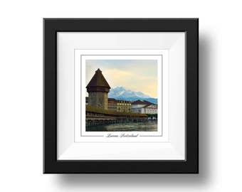 Lucerne Photograph, Switzerland Print, Square Wall Art