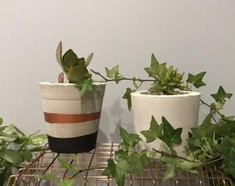 Concrete planters/pots - handcrafted