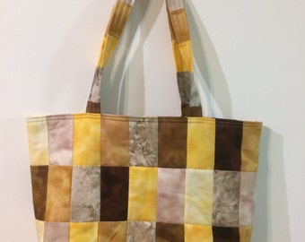 Quilted gold beach bag