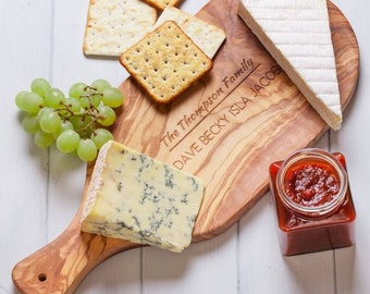 Personalised Olivewood Antipasti Chopping Board