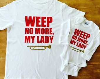 KY Shirt, KY Derby Shirt, Weep No More My Lady- Adult Unisex Shirt