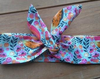 Wire headband - dolly headband - 50s headband - retro vintage headband - multi coloured - foxes - tie headband