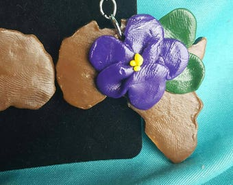 African Violet- Pan-African inspired earring