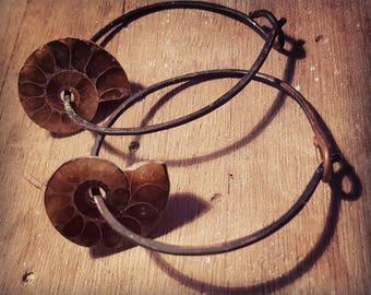 18 Gauge Ammonite Ear Hangers /Weights