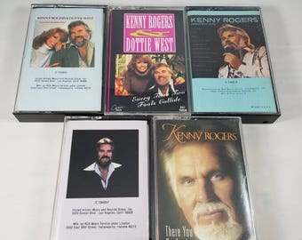 Kenny Rogers Audio Cassette Tape Lot of Five | Dottie West Greatest Hits Gambler