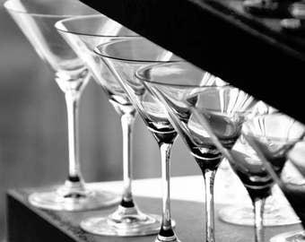 Martini Glasses on Display