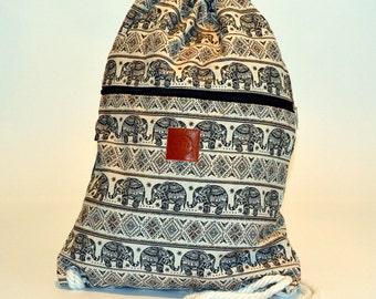 Elephant Safari Backpack Black