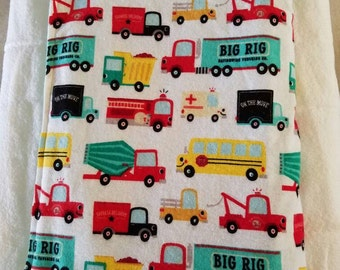 Vehicle flannel baby blanket