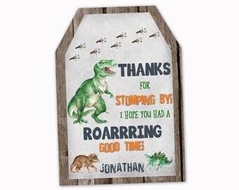 Dinosaur Favor Tags, Dinosaur Thank you Tags, Dinosaur Party, Birthday Party Favor Tags