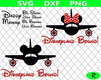 Disneyland Bound  SVG bundle, Disneyland SVG , Disney vacation SVG, Mickey mouse plane, svg files for silhouette, cricut, Disney svg files