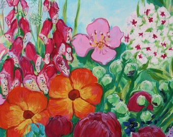Oil painting on canvas, paintings, flowers