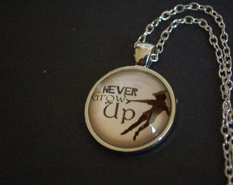 Peter Pan Never give up necklace