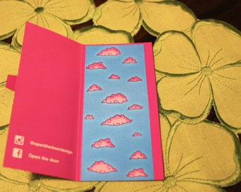 Bookmark pink clouds