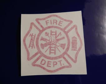 Fire Dept Decal