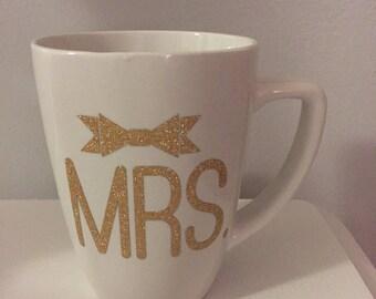 Sale!!Mrs 12 oz mug with many color options!