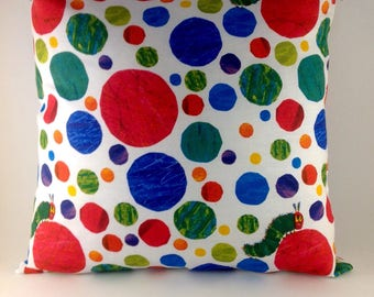 Very hungry caterpillar decorator cushion for little and big kids.