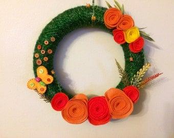 Yarn Wrapped Spring Wreath