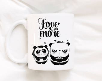 Coffee Mug - Panda Mug - Animal Mug - Cute Mug - Porcelain Coffee Mug - Tea Cup - Panda -  Quote - Drawing - Gift for Him – Gift for Her