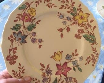 J&G Meakin Plate Cotswold Flower Design