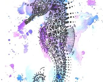 Seahorse, art print, print, print
