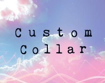 Custom Collar Little Space DDlg Kitten Puppy Pet Play